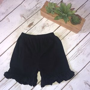 Double ruffle bicycle shorts